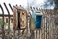 Old mail box. New ways of communication stock photo