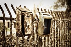 Old mail box. New ways of communication - concept image Stock Image