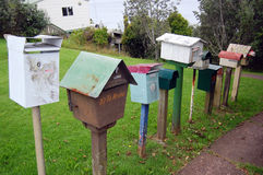 Old mailboxes rural area Royalty Free Stock Photography