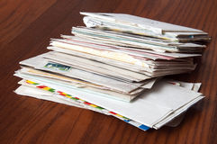 Old Mail: Letters and Enveloppe Stock Photo