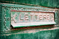 Old mail slot stock image