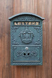 A old mailbox. Mailbox on the old door Stock Image