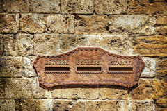 Old mailbox in a brick wall Royalty Free Stock Images