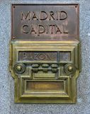 Old Mailbox in Madrid, Spain stock photos