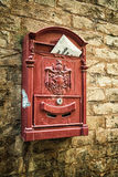 Old mailbox on the wall Stock Image