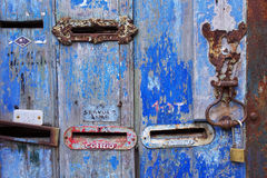 Old Mailboxes Royalty Free Stock Images