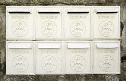 Old mailboxes Stock Photo