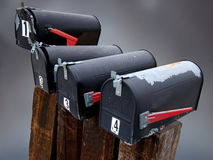 Old Mailboxes Royalty Free Stock Photo
