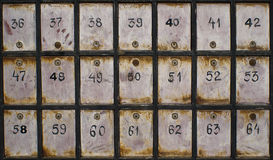 Old mailboxes Royalty Free Stock Photography