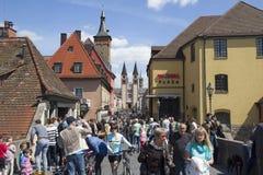 Old Main Bridge Wurzburg, Germany Stock Photos