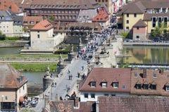 Old Main Bridge Wurzburg, Germany Royalty Free Stock Image