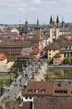 Old Main Bridge Wurzburg, Germany Stock Image
