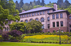 Old Main Union Hall. At Western Washington University at Bellingham, Washington stock photography