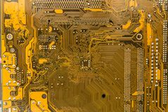 Old mainboard Royalty Free Stock Photography