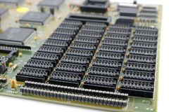 Old mainboard for PC Royalty Free Stock Images