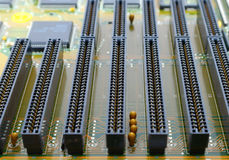 Old mainboard for PC with ISA unit interface Royalty Free Stock Image