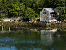 Old Maine boathouse Royalty Free Stock Photos