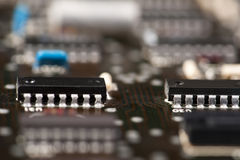 Old mainframe controller board Stock Photos