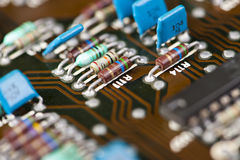 Old mainframe controller board Stock Images