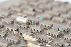 Old mainframe controller board Royalty Free Stock Photo