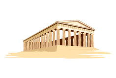 Old majestic temple from Greece Royalty Free Stock Photos
