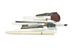 Old Makeup Brush Stock Photo