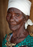 Old Malawian lady, Malawi Stock Photo