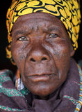 Old Malawian lady with scarification, Malawi Stock Image