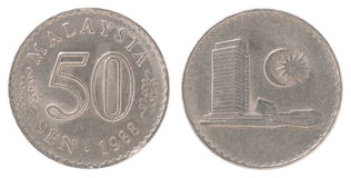 Old Malaysian coin Stock Image