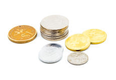 Old Malaysian sen coins Stock Image