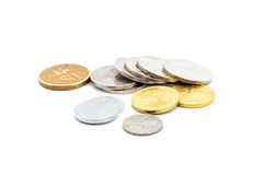 Old Malaysian sen coins Royalty Free Stock Image
