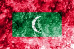 Old Maldives grunge background flag.  Royalty Free Stock Images