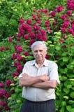 Old male gardener Royalty Free Stock Image