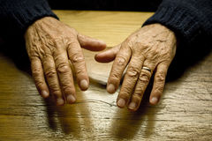 Old Male Hands Stock Images