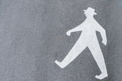 Old male pedestrian symbol on a street in Germany.  royalty free stock images