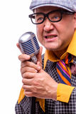 Old male singer Stock Image