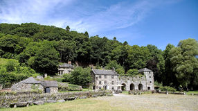 Old Malt House is on Cotehele Quay and overlooks the River Tamar England. Old Malt House is on Cotehele Quay and overlooks the River Tamar beside an old woods in stock photo