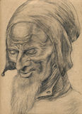Old man 1 - drawing, sketch Stock Photo