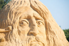 Old man. 2nd sand statues festival in Bourgas, Bulgaria - 2009 Stock Photos