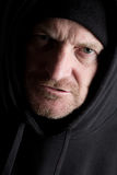 Old Man. Grizzly old man in sweatshirt Stock Photos