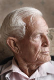 Old man. An old senior man reflects on his past Stock Photography