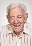 Old man. Smiling 90 year old elder senior handsome man portrait stock images