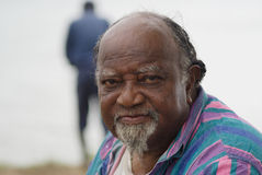 Old Man. Portrait of an old African American man Royalty Free Stock Photography