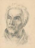 Old man 3- drawing, sketch royalty free illustration