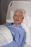 Old man alone in hospice Stock Images