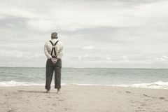Free Old Man And The Beach Stock Photos - 1163633
