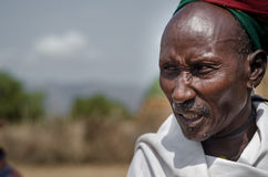 Old man from Arbore Tribe Stock Photo