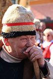 Old Man At The Carnival Royalty Free Stock Photography