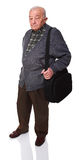 Old man with bag Stock Image