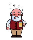 Old man being drunk Stock Photo